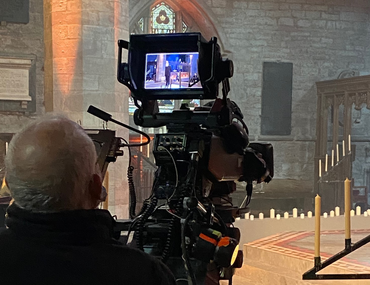 Filming the Bryn Terfel Concert in Brecon Cathedral