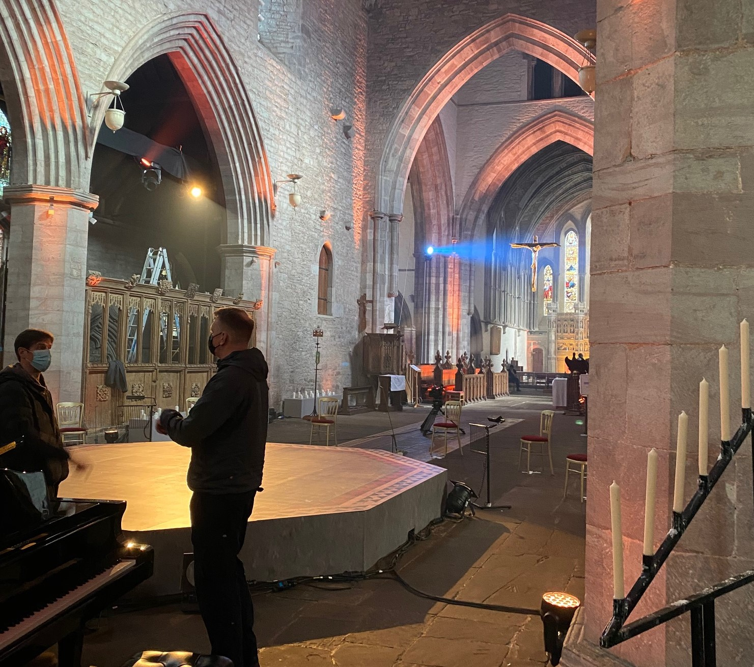 Brecon Cathedral is an amazing space for recording music